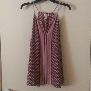 Burgundy striped sleeveless top